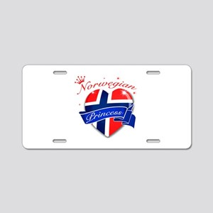 Norwegian Princess Aluminum License Plate