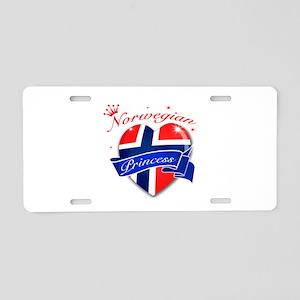 Norwegian Princess Aluminum License Plate