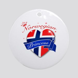 Norwegian Princess Ornament (Round)
