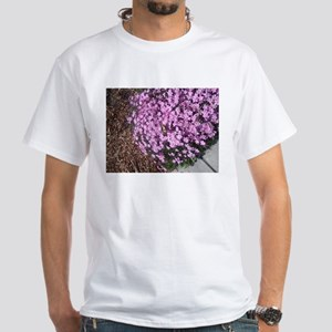 butterfly on flowers at BSU T-Shirt