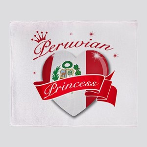 Peruvian Princess Throw Blanket