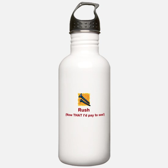 Screw Rush (red font) Water Bottle
