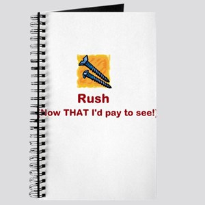 Screw Rush (red font) Journal