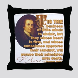 Whose Heart Is Firm Throw Pillow