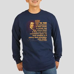 Whose Heart Is Firm Long Sleeve Dark T-Shirt