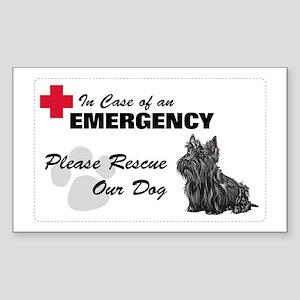 Please Rescue Scottie Rectangle Sticker
