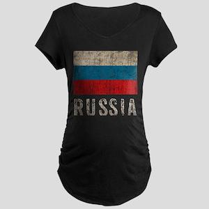Vintage Russia Maternity Dark T-Shirt