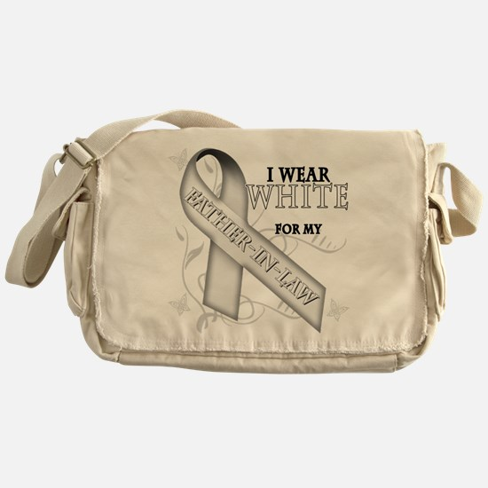 I Wear White for my Father-In Messenger Bag