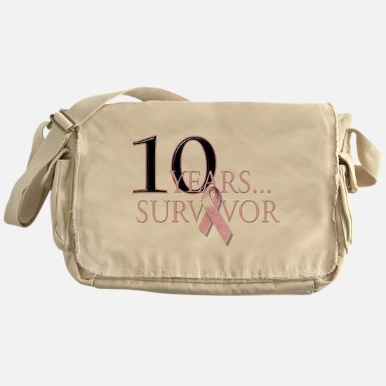 10 Years Breast Cancer Surviv Messenger Bag