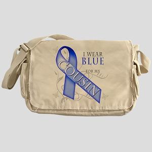 I Wear Blue for my Cousin Messenger Bag