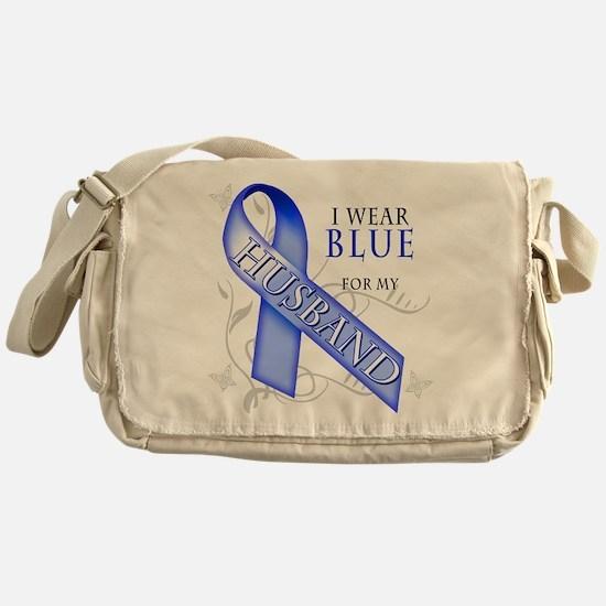 I Wear Blue for my Husband Messenger Bag