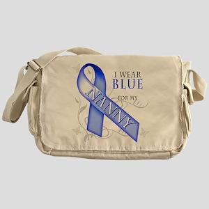 I Wear Blue for my Nanny Messenger Bag