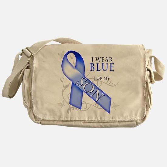 I Wear Blue for my Son Messenger Bag