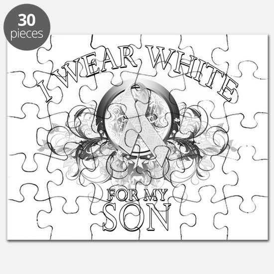 I Wear White for my Son (flor Puzzle