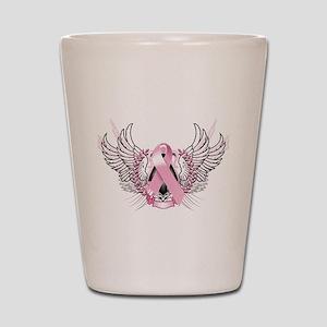 Awareness Tribal Pink Shot Glass