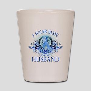 I Wear Blue for my Husband (f Shot Glass