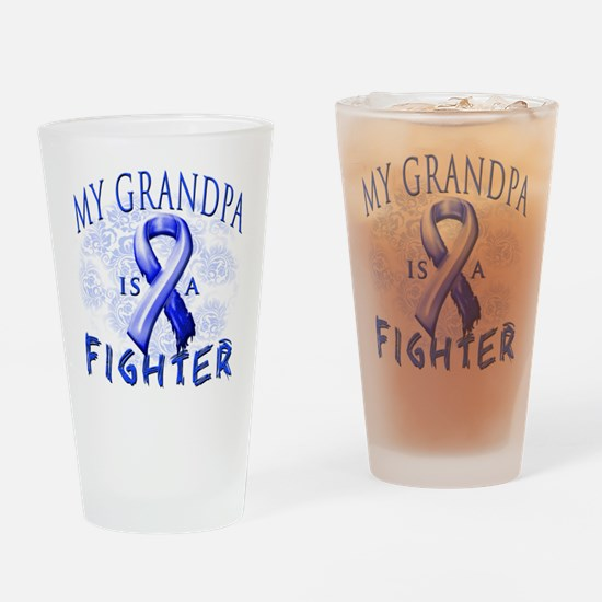My Grandpa Is A Fighter Drinking Glass