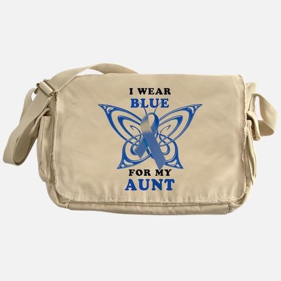 I Wear Blue for my Aunt Messenger Bag