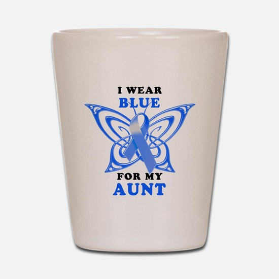 I Wear Blue for my Aunt Shot Glass