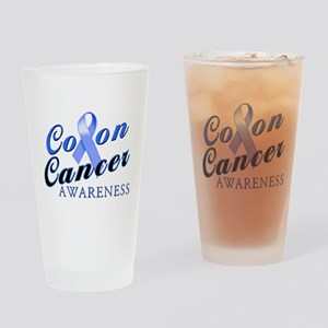 Colon Cancer Awareness Drinking Glass