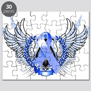Awareness Tribal Blue Puzzle