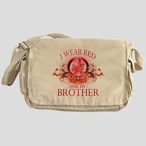 I Wear Red For My Brother (fl Messenger Bag