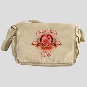 I Wear Red For My Son (floral Messenger Bag
