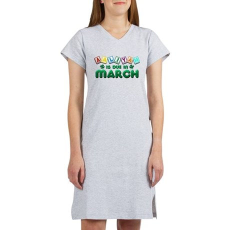 Aaliyah is Due in March Women's Nightshirt