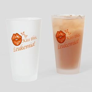 Kiss this, Leukemia! Drinking Glass