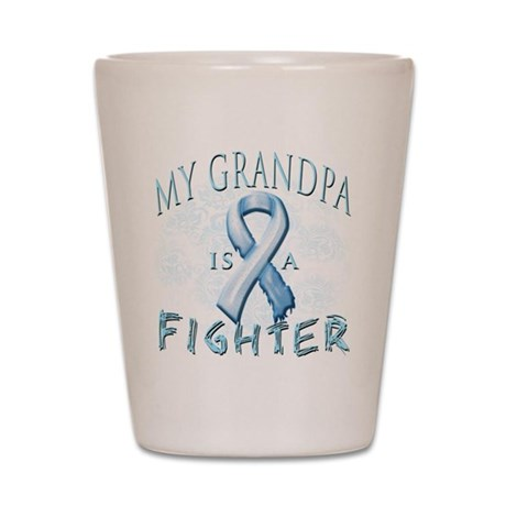My Grandpa Is A Fighter Shot Glass