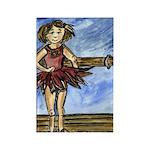Dancer Drawings n Paintings Rectangle Magnet
