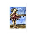 Dancer Drawings n Paintings Sticker (Rectangle)
