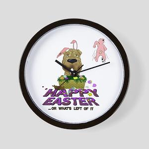 Shar-Pei Happy Easter Wall Clock