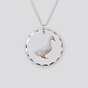 Duck Necklace Circle Charm