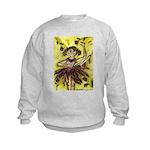 Dancer Drawings n Paintings Kids Sweatshirt