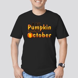 A Lil' Pumkin Coming in Octob Men's Fitted T-Shirt