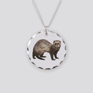 Ferret Necklace Circle Charm