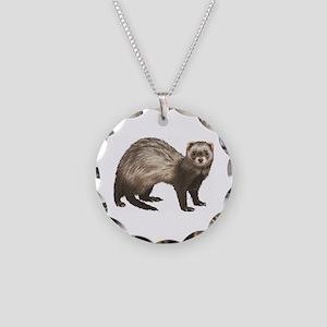 Ferret Necklace Circle Charm