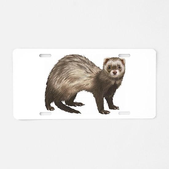 Ferret Aluminum License Plate
