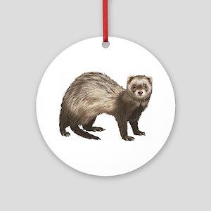 Ferret Ornament (Round)