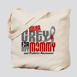 I Wear Grey 6 Diabetes Tote Bag