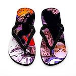 Halloween Witch Flip Flops