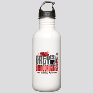 I Wear Grey 6 Diabetes Stainless Water Bottle 1.0L