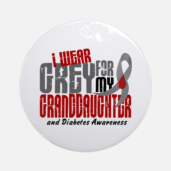 I Wear Grey 6 Diabetes Ornament (Round)