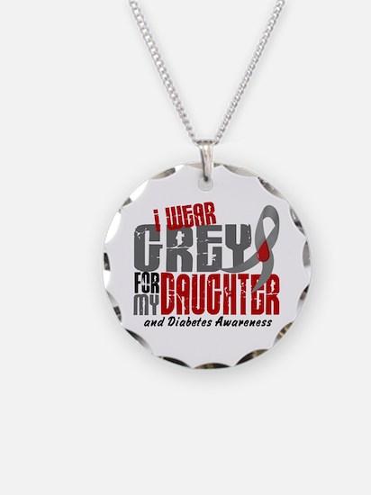 I Wear Grey 6 Diabetes Necklace