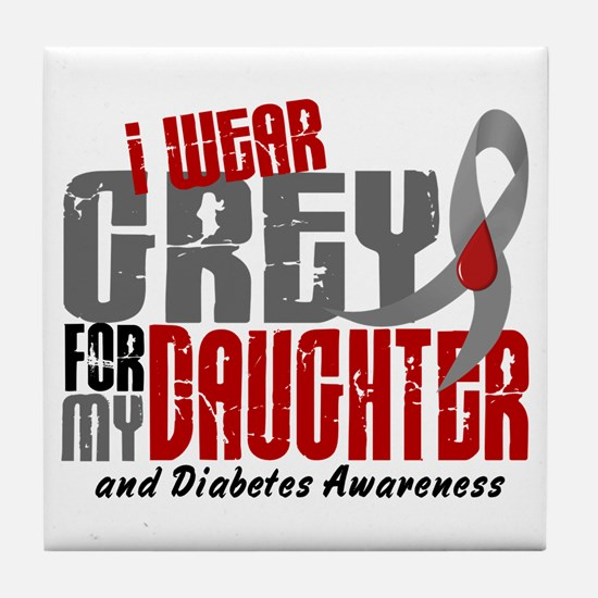 I Wear Grey 6 Diabetes Tile Coaster