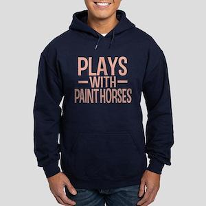 PLAYS Paint Horses Hoodie (dark)