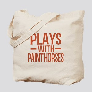 PLAYS Paint Horses Tote Bag