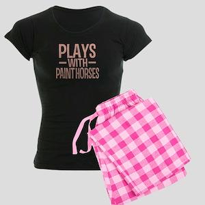 PLAYS Paint Horses Women's Dark Pajamas