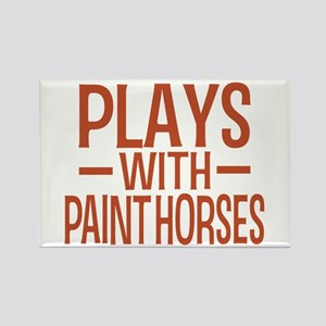 PLAYS Paint Horses Rectangle Magnet